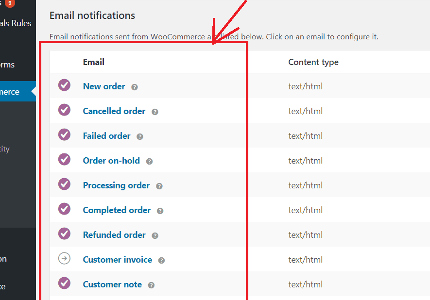 woocommerce email notification not working