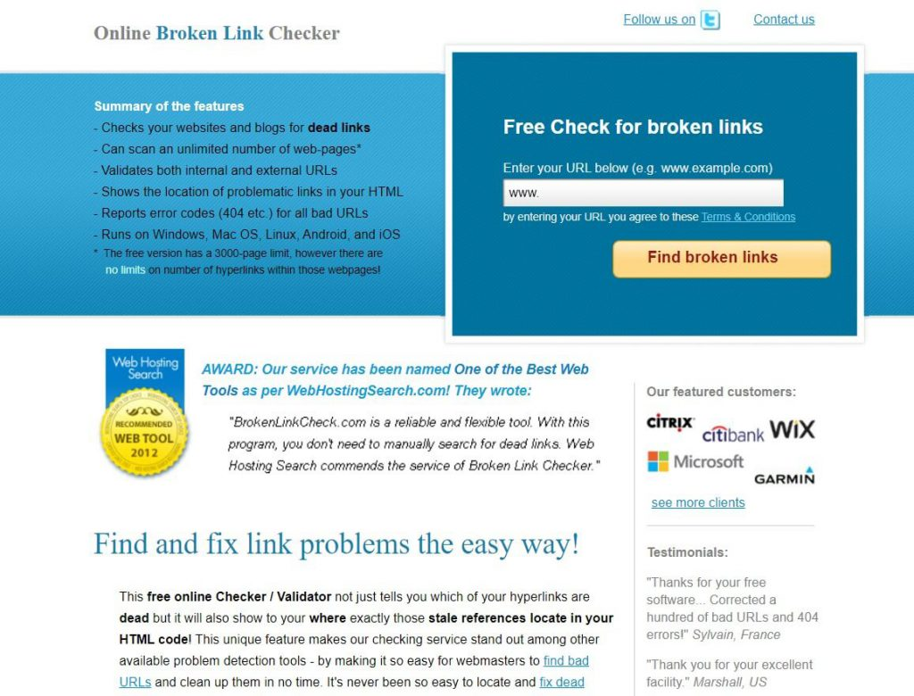 Link Checking Tool