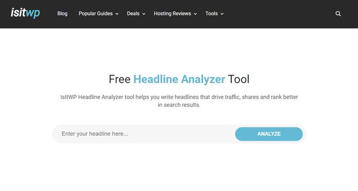 Headline analyzing tool