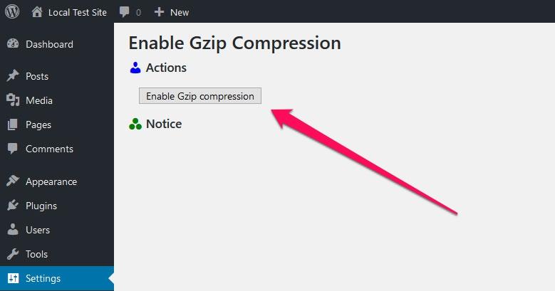 enable gzip compression wordpress plugin