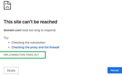 How to Fix the ERR_CONNECTION_TIMED_OUT Error