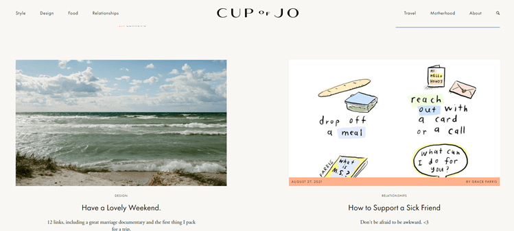 Cup of jo