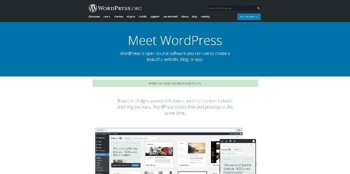 WordPress - website builder