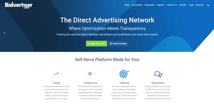 PPC affiliate programs: Bidvertiser