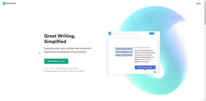 Grammarly - best blogging apps