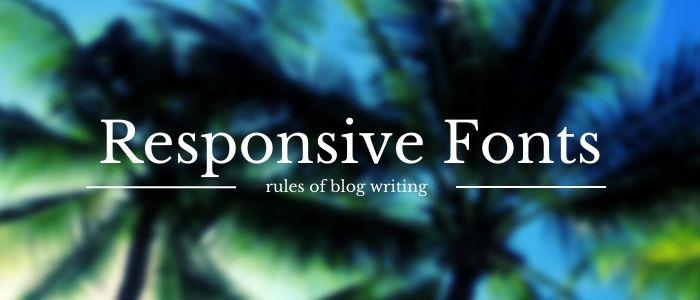 Responsive Fonts