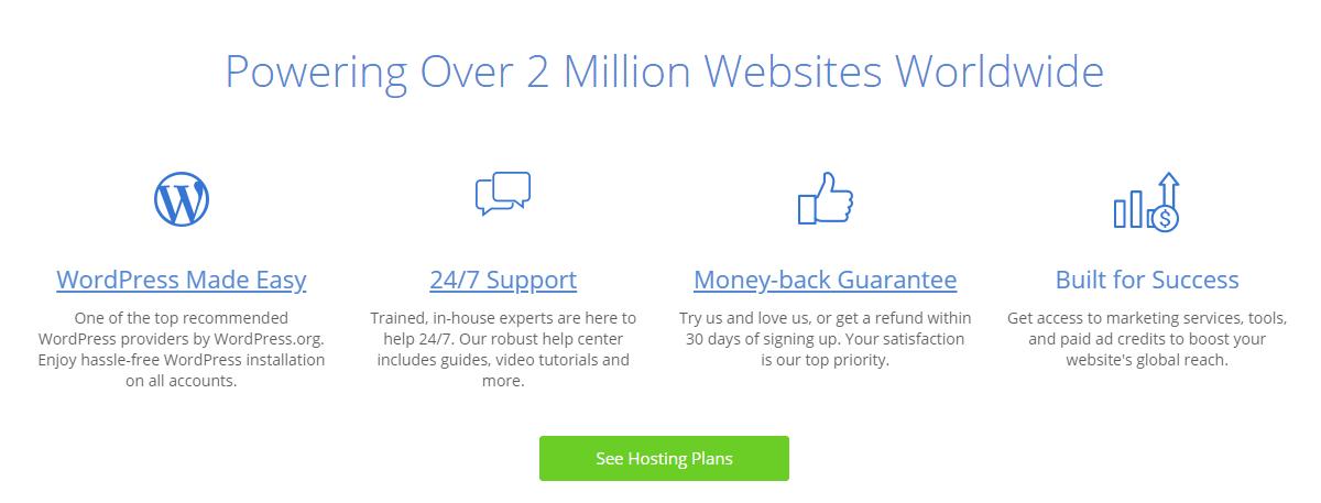 Bluehost prime web hosting