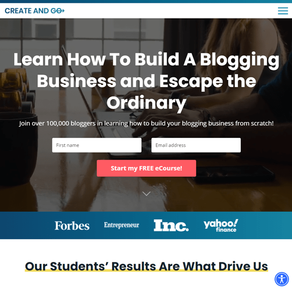 first blog post examples